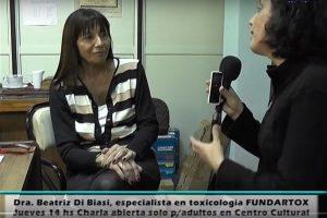 Canal 4 Totoras – Entrevista realizada a la Dra. Beatriz Di Biasi sobre adicciones