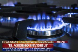 Canal 6 Entre Ríos TV - Dr Carlos Damín. El asesino invisible. Alrededor de 200 personas mueren al año debido a la intoxicación con Monóxido de Carbono