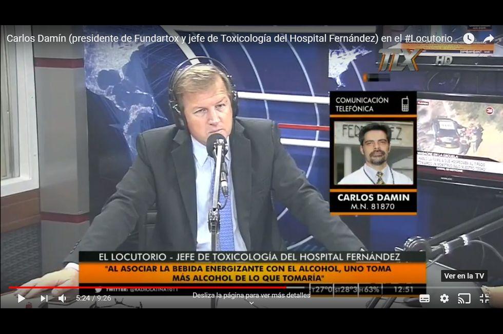 Radio Latina FM 101.1 - Carlos Damín (presidente de Fundartox y jefe de Toxicología del Hospital Fernández) en el #Locutorio
