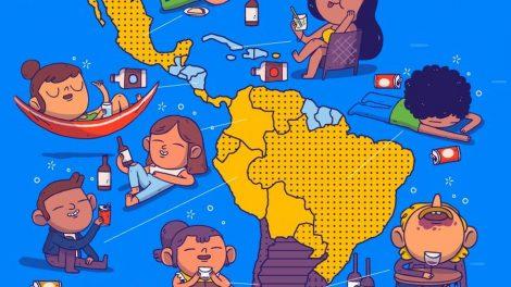 Twitter - El consumo de alcohol en América