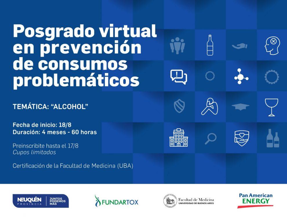 Posgrado virtual en prevención de consumos problematicos