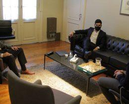 Twitter - El Dr. Carlos Damin se reunión con el Director Nacional de Seguridad Vial y el diputado Moyano.