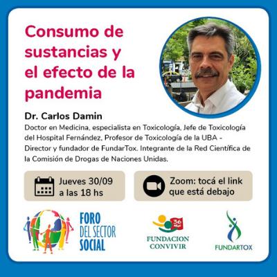 Webinar Consumo de sustancias y el efecto de la pandemia